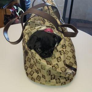 Handbags - Faux Designer Pet Carrier